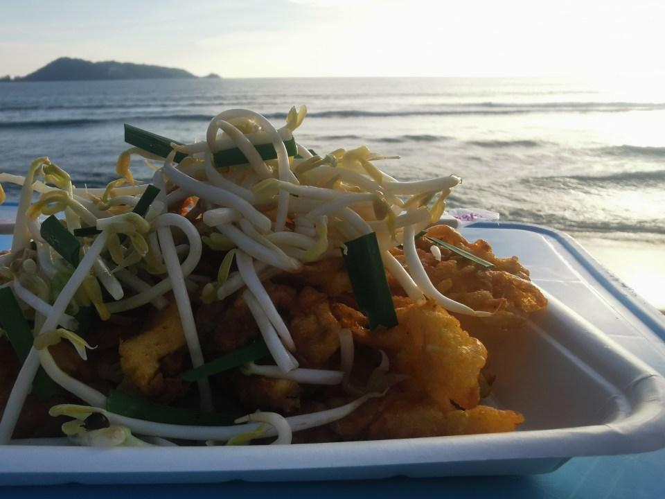 Street food by the sea in Kalim beach