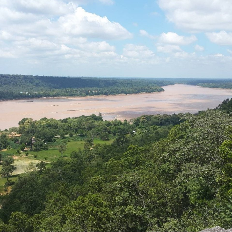 Views of the Mekong river in Pha Thaem nationalpark