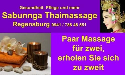 Sabunnga Thaimassage Regensburg Paar Massage für zwei, erholen Sie sich hier zu zweit