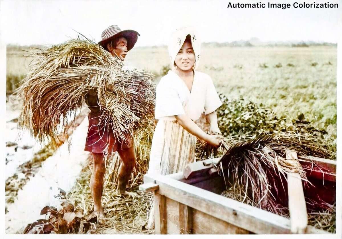 2人の農民(1910年、Elstner Hilton氏撮影)