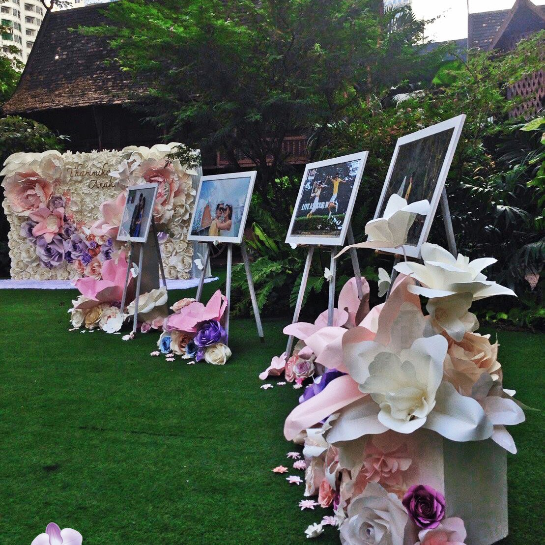 สวนดอกไม้กระดาษ แต่งงานในสวน