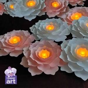 ดอกไม้กระดาษ อีเว้นท์ backdrop แต่งงาน