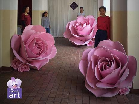ดอกไม้กระดาษ อีเว้นท์ กุหลาบยักษ์