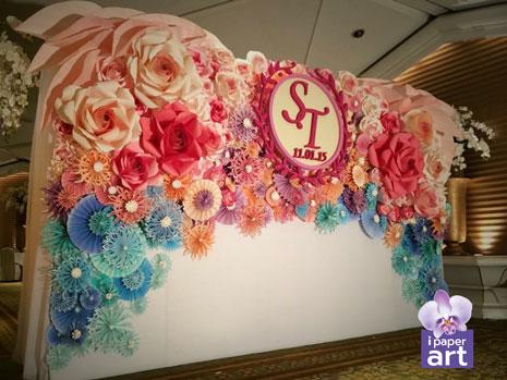 เจ้าสาว ดอกไม้กระดาษ พาน ขันหมาก พานเทียนแพ แพคเกจ แต่งงาน ฉาก ดอกไม้ งานแต่ง