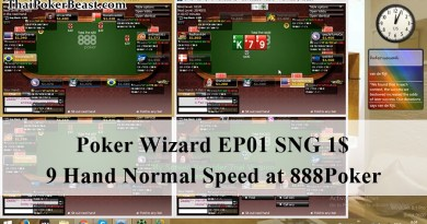 Poker Wizard EP01 SnG $1 - 9 Player @888poker