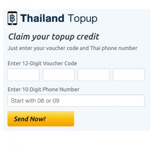 Redeem Thailand Topup Vouchers