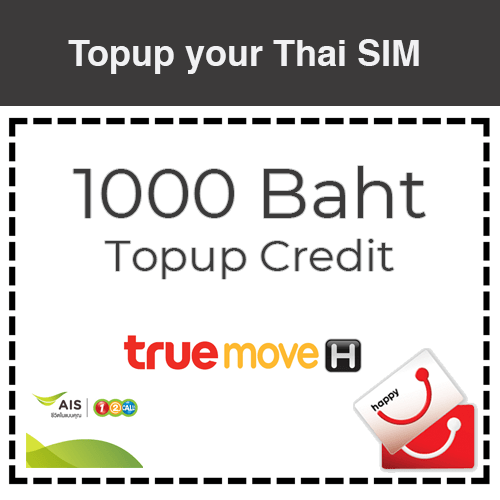 1000 Baht Recharge