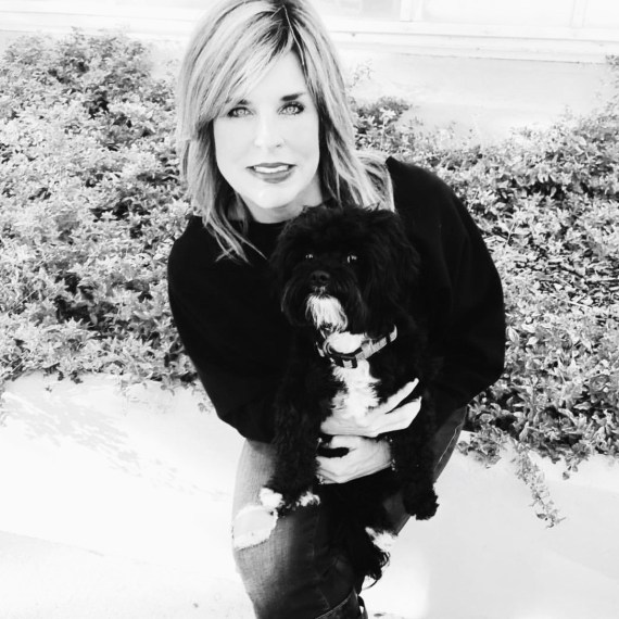 Lori Nelson, salon owner, hair stylist b&w