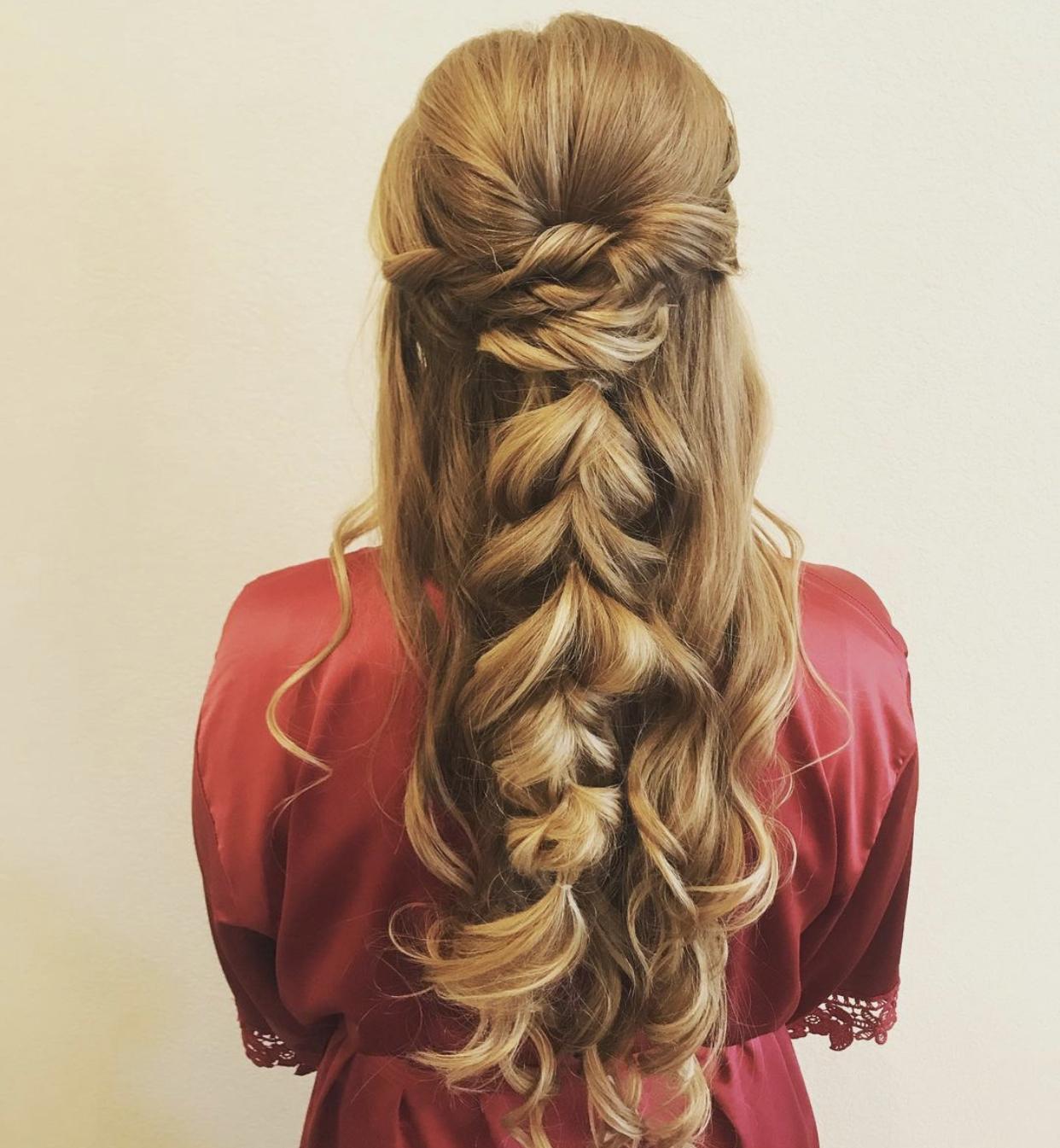 Formal style updo by hair stylist Mariesol Pool