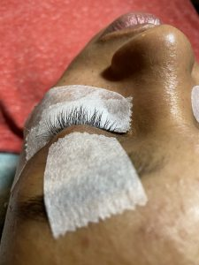 Before volume lashes service by Krisann Knots, eyelash extensions specialist