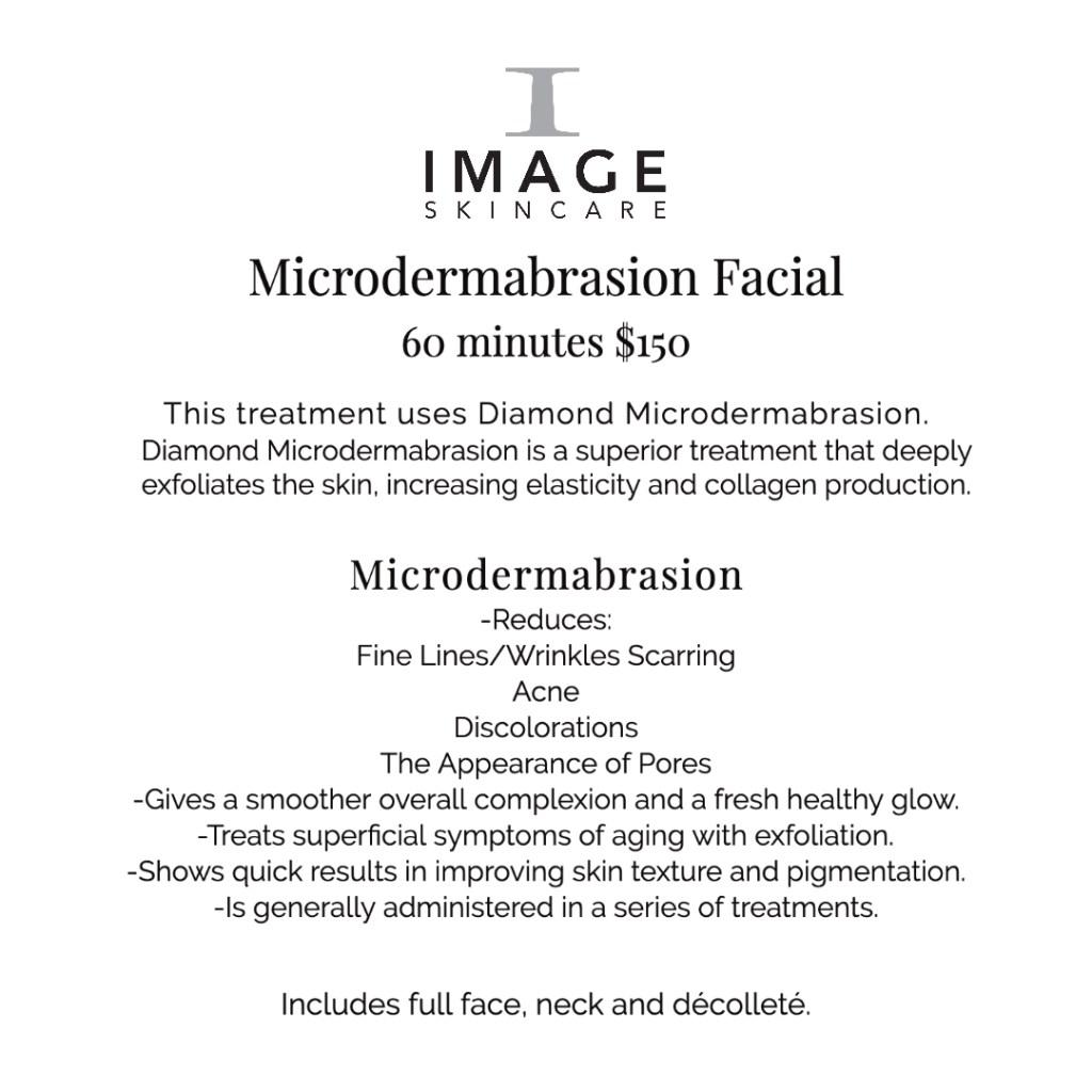 Microdermabrasian skincare service description