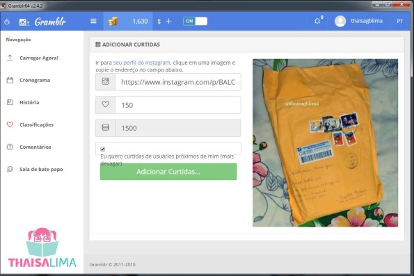 Aplicativo desktop gramblr v2 para instagram