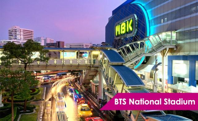 BTS National Stadium Bangkok Thailand ThaiSims 4G Mobile Router Pocket WiFi Rental
