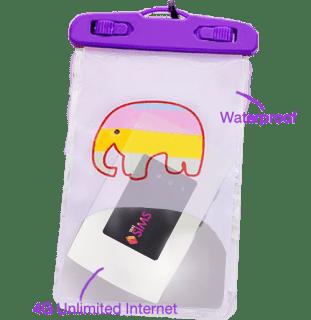 Waterproof bag ThaiSims Pocket Wifi