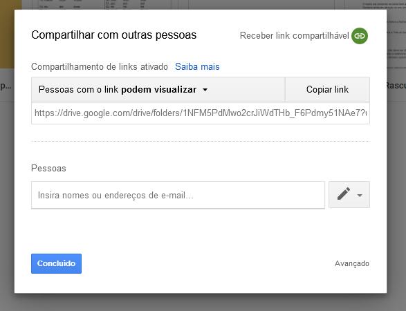 Gerando um link para que muitas pessoas possam se conectar automaticamente na sua pasta do Google Drive