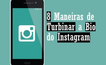 Telefone com a marca do Instagram, junto com o título do post