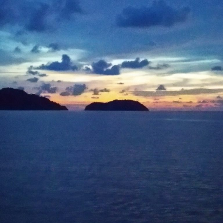 koh chang ferry view sunset