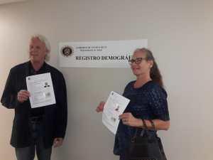 Dr. Anthony and Dr. Julie James receive Celebrante License Puerto Rico September 2019
