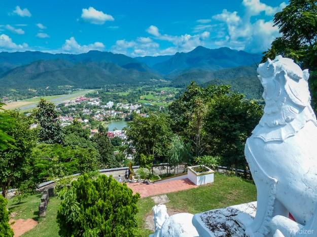 view of Mae Hong Son from Wat Phra That Doi Kong Mu