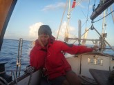 Sleeping while steering the sailing boat momo, north atlantic, 2013