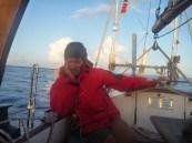 Sleeping while steering the sailing boat momo, north atlantic, 2013