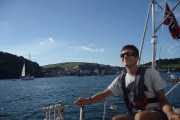Sailing in front of cawsand and kingsand, cornwall, 2013