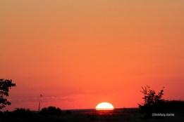 Sunset next to Sua Pan - 2010