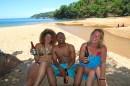Kuchekuche with ladies on the beach of Lake Malawi at Nkhata Bay