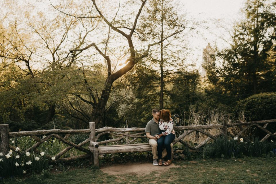 engagement session at Central Park NYC