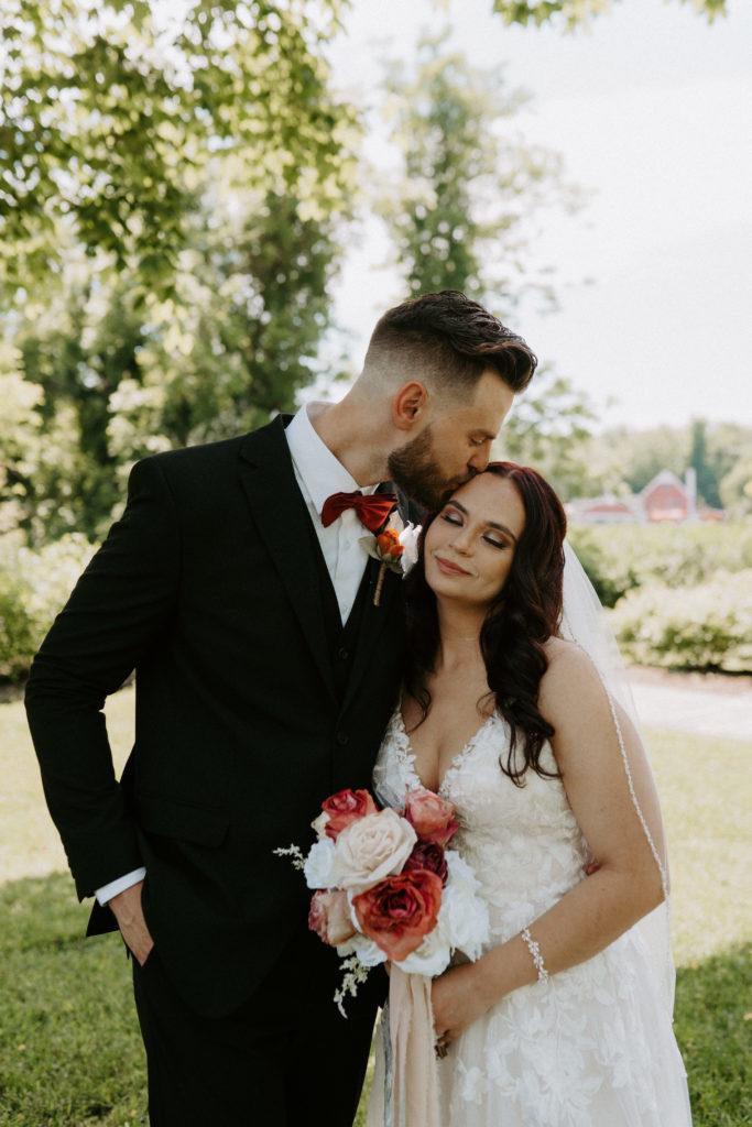 bride and groom on long island New York