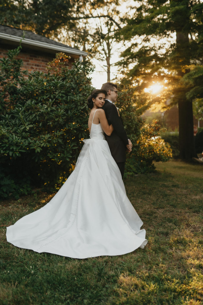 An Intimate Church and Nikkah Ceremony Summer Backyard Wedding
