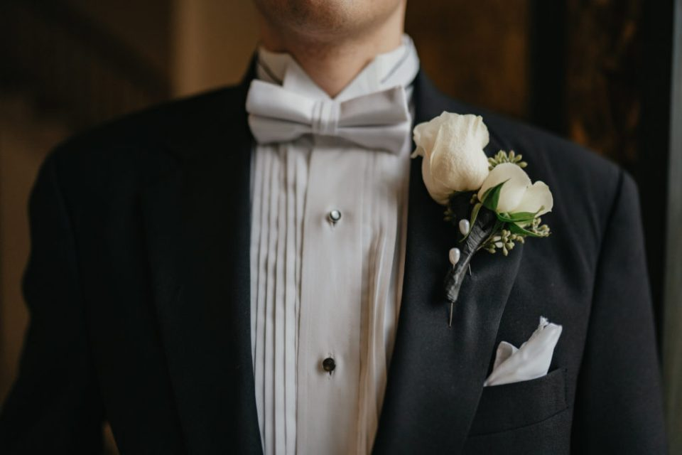 groom wedding detail shot