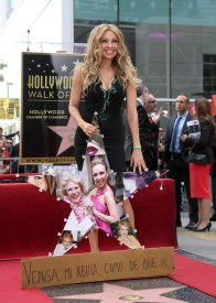 Thalia receives a star on the Hollywood walk of fame in Hollywood, CA. Husband Tommy Mottola was there to support the Latin star