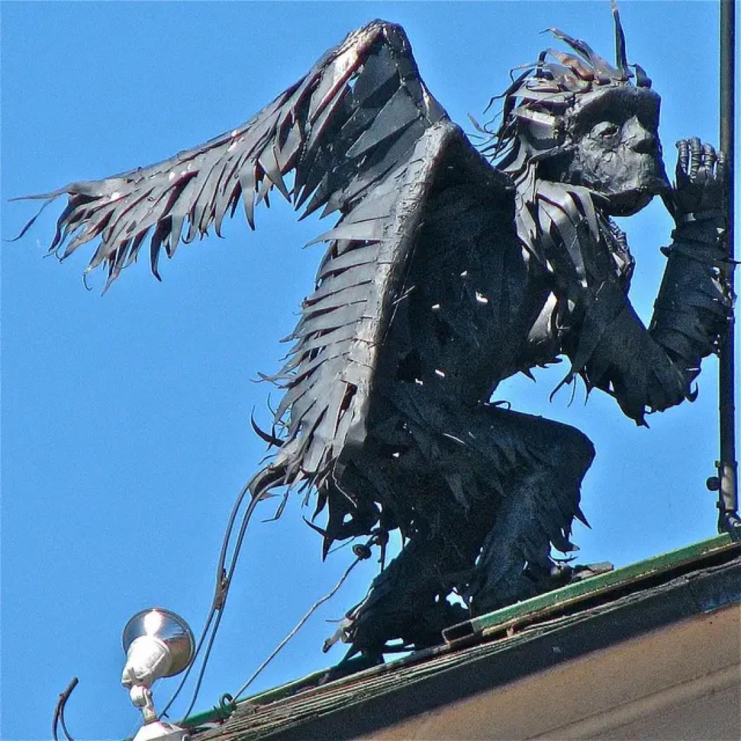 burlington winged flying monkey sculpture 5