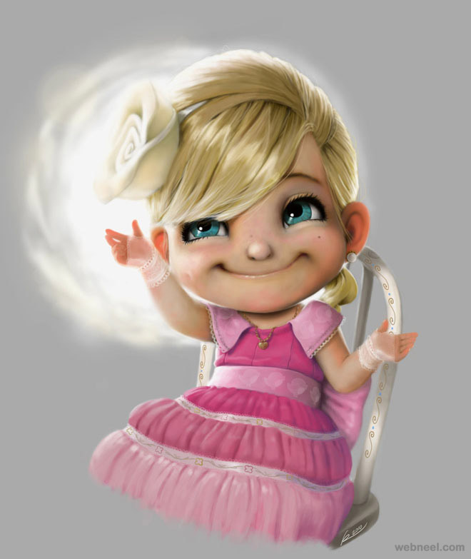 13-little-girl-digital-art-by-salvador