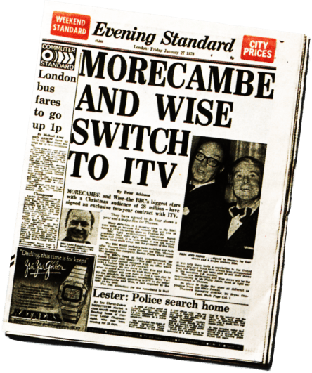 Evening Standard on Morecambe and Wise defecting from the BBC