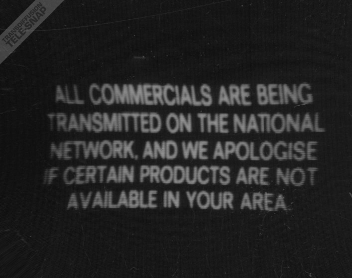 ITENS All commercials are being transmitted on the national network