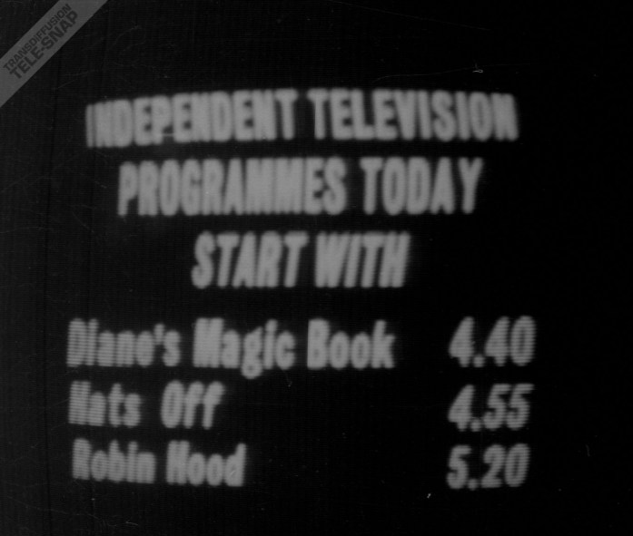 ITENS Independent Television programmes today start with