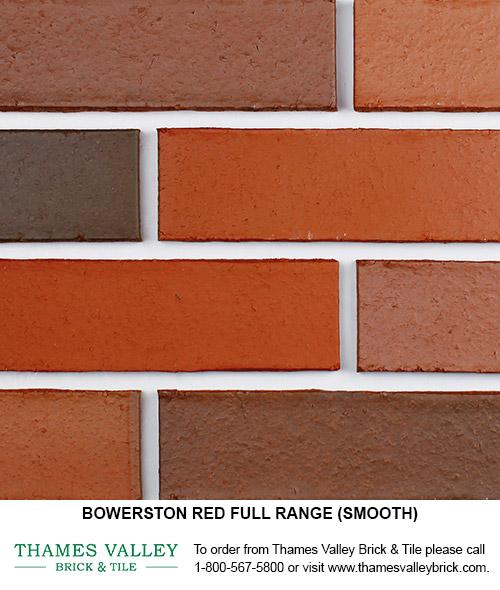 red full range bowerston face brick