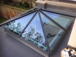 Pyramid Roof, Slimline Aluminium