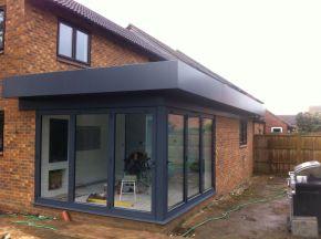 Aluminium Corner Bifold Door Set Anthracite Grey