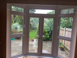 Internal view of VEKA French door complex