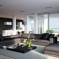 Wohnzimmer Einrichten Grau Unglaublich On Auf Ideen ...