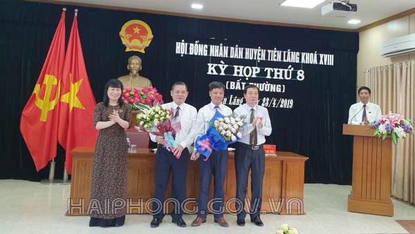 Kiện toàn chức danh Phó Chủ tịch UBND huyện Tiên Lãng, nhiệm kỳ 2016 - 2021