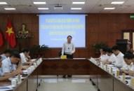 Tiểu ban Văn kiện Đại hội XVI Đảng bộ thành phố khảo sát tại Quận ủy Hồng Bàng