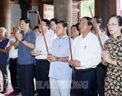 Lãnh đạo thành phố dâng hương tưởng niệm Chủ tịch Hồ Chí Minh, Chủ tịch Tôn Đức Thắng