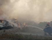 Cột bê tông cản trở xe chữa cháy tiếp cận đám cháy