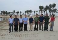 Kiểm tra công tác chuẩn bị Lễ khai trương Bãi tắm nhân tạo Hồ nước mặn và Động thổ Tổ hợp Dragon Hill Resort