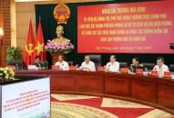 Phó Thủ tướng Thường trực Chính phủ Trương Hòa Bình – Trưởng ban Chỉ đạo Cải cách hành chính, Trưởng ban Chỉ đạo 389 làm việc tại thành phố Hải Phòng