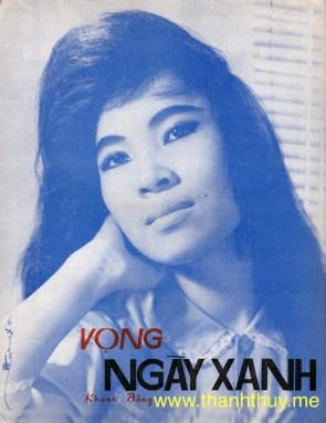 """Ảnh Thanh Thúy trên bìa bản nhạc """"Vọng ngày xanh"""""""